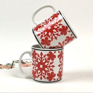 Vintage Mugs Island Heritage Hibiscus Quilt Hawaii